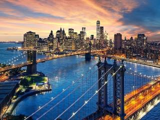 Собирать пазл Bridges Of New York онлайн
