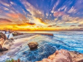 Собирать пазл The sky and the sea онлайн