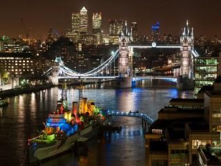 Собирать пазл Night London онлайн