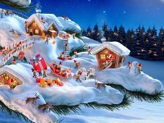 Собирать пазл Christmas gnomes онлайн