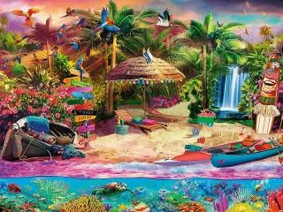 Собирать пазл Inhabited island онлайн
