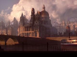 Собирать пазл Clouds and the city онлайн