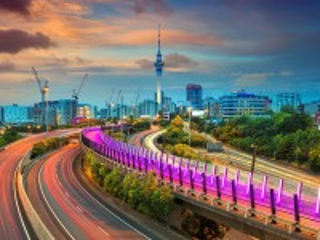 Собирать пазл Auckland city at sunset онлайн