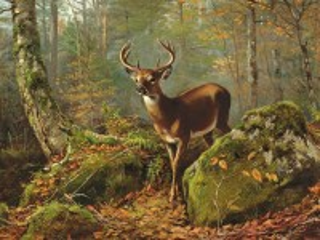 Собирать пазл Deer in the forest онлайн