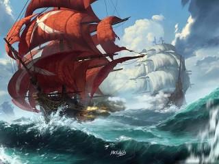 Собирать пазл Sailboats онлайн