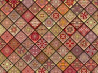 Собирать пазл Tile on the diagonal онлайн