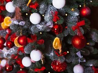 Собирать пазл Festive spruce онлайн