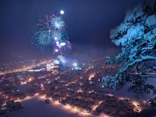 Собирать пазл Fireworks онлайн