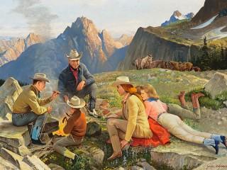 Собирать пазл The camp in the mountains онлайн