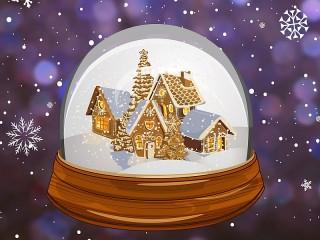 Собирать пазл Gingerbread town онлайн