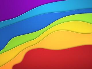 Собирать пазл Rainbow waves онлайн