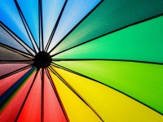 Собирать пазл Rainbow umbrella онлайн