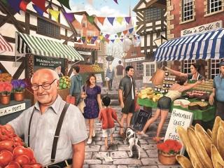 Собирать пазл Market day онлайн