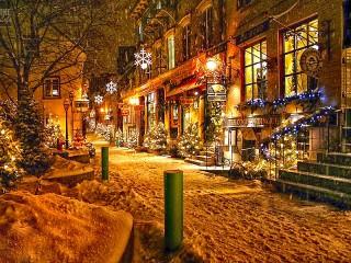 Собирать пазл Christmas in Quebec онлайн