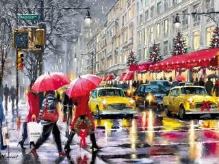 Собирать пазл Christmas in new York онлайн