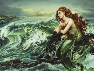 Собирать пазл Mermaid awaits Prince онлайн