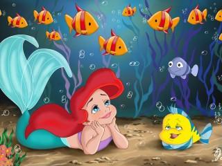 Собирать пазл Mermaid Disney онлайн