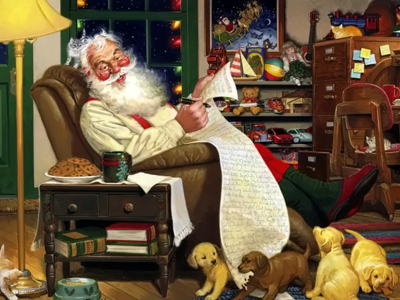 O quebra-cabeça Recolher o quebra-cabeças on-line - Santa Claus 8