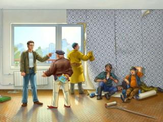 Собирать пазл Jobbing workmen онлайн