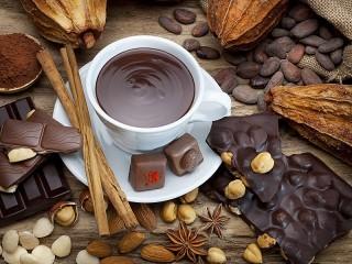 Собирать пазл Hot chocolate онлайн
