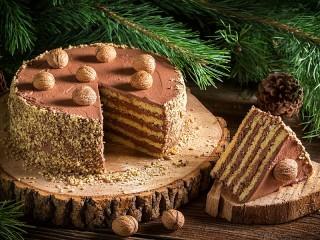 Собирать пазл Chocolate dessert онлайн