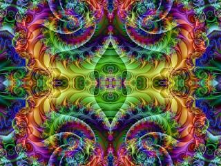 Собирать пазл Symmetrical rainbow онлайн