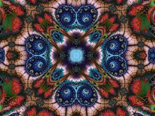 Собирать пазл Symmetrical fractal онлайн
