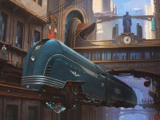Собирать пазл Blue locomotive онлайн