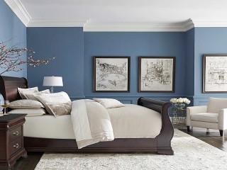 Собирать пазл Blue bedroom онлайн