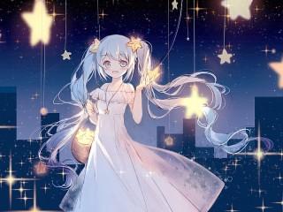 Собирать пазл Collecting stars онлайн