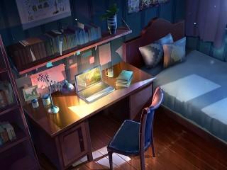 Собирать пазл Study bedroom онлайн