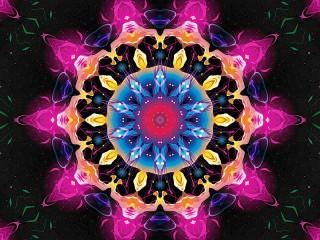 Собирать пазл Sparkling fractal онлайн