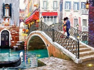 Собирать пазл Svidanie v Venetsii онлайн