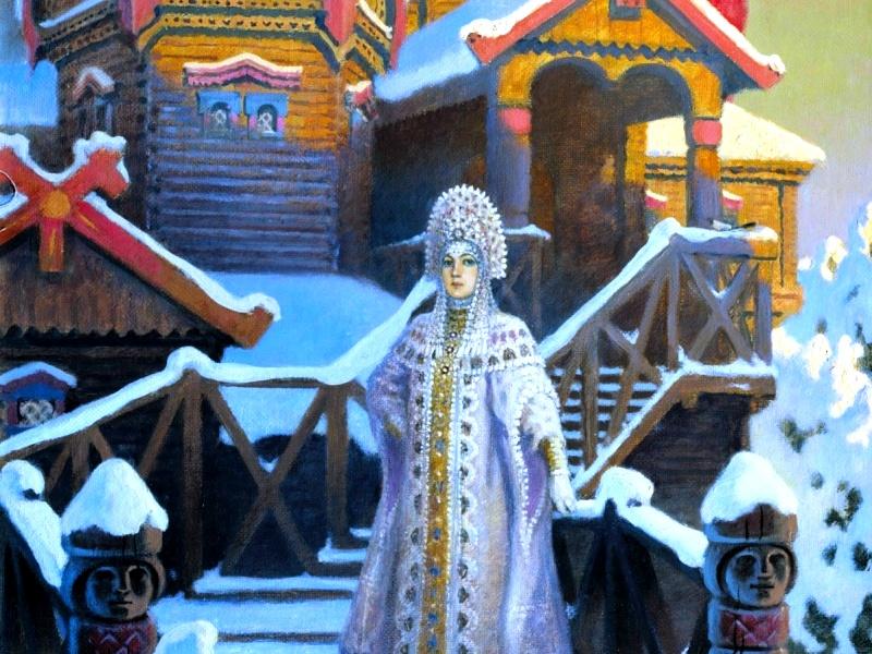 O quebra-cabeça Recolher o quebra-cabeças on-line - Palace of princess the Winter