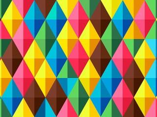 Собирать пазл Triangles and rhombuses онлайн