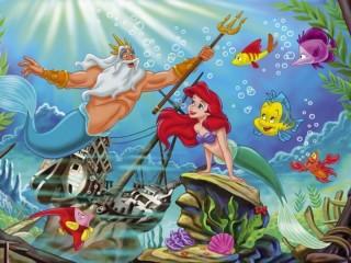 Собирать пазл Triton and Ariel онлайн