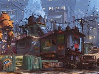 Собирать пазл Slums онлайн