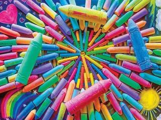 Собирать пазл Crayons онлайн