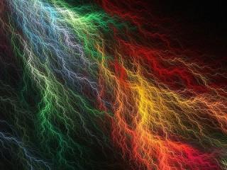 Собирать пазл Colored lightnings онлайн