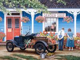 Собирать пазл Garden shop онлайн