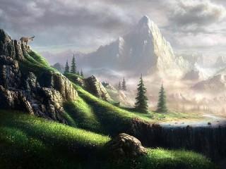Собирать пазл Mist mountain онлайн