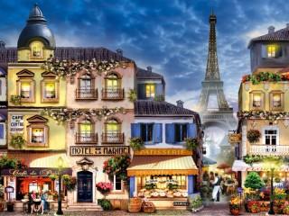Собирать пазл Street in Paris онлайн