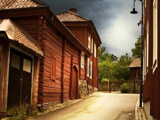 Собирать пазл Street in the old town онлайн
