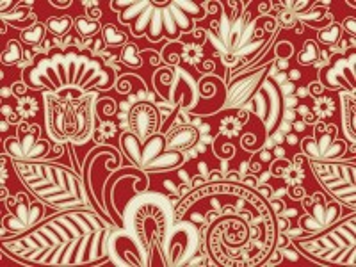 Собирать пазл Pattern with flowers онлайн