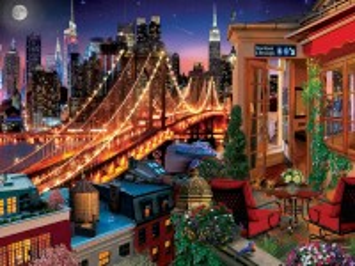 Собирать пазл Evening city онлайн