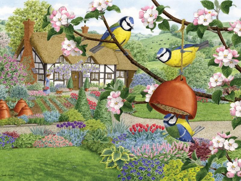 O quebra-cabeça Recolher o quebra-cabeças on-line - In spring in garden