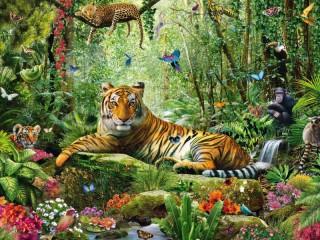 Собирать пазл Lord of jungle онлайн