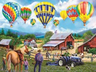 Собирать пазл Air balloons онлайн