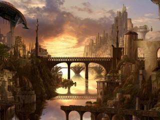 Собирать пазл Mysterious city онлайн