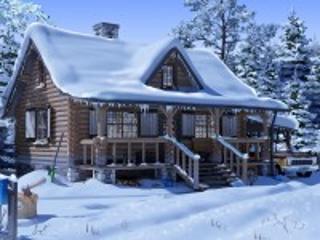Собирать пазл Country house in winter онлайн